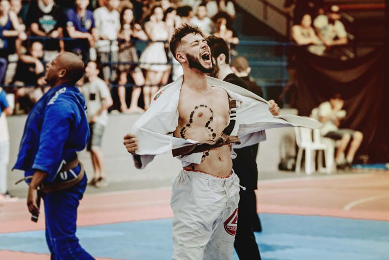 BJJ competition winner